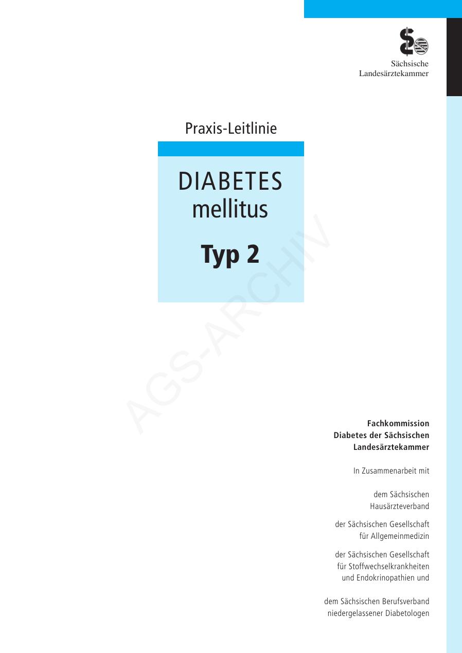 leitlinie diabetes mellitus