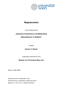 Magisterarbeit