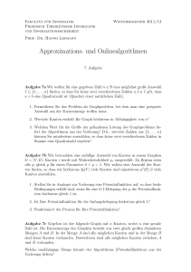 Approximations- und Onlinealgorithmen