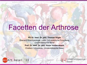 Facetten der Arthrose