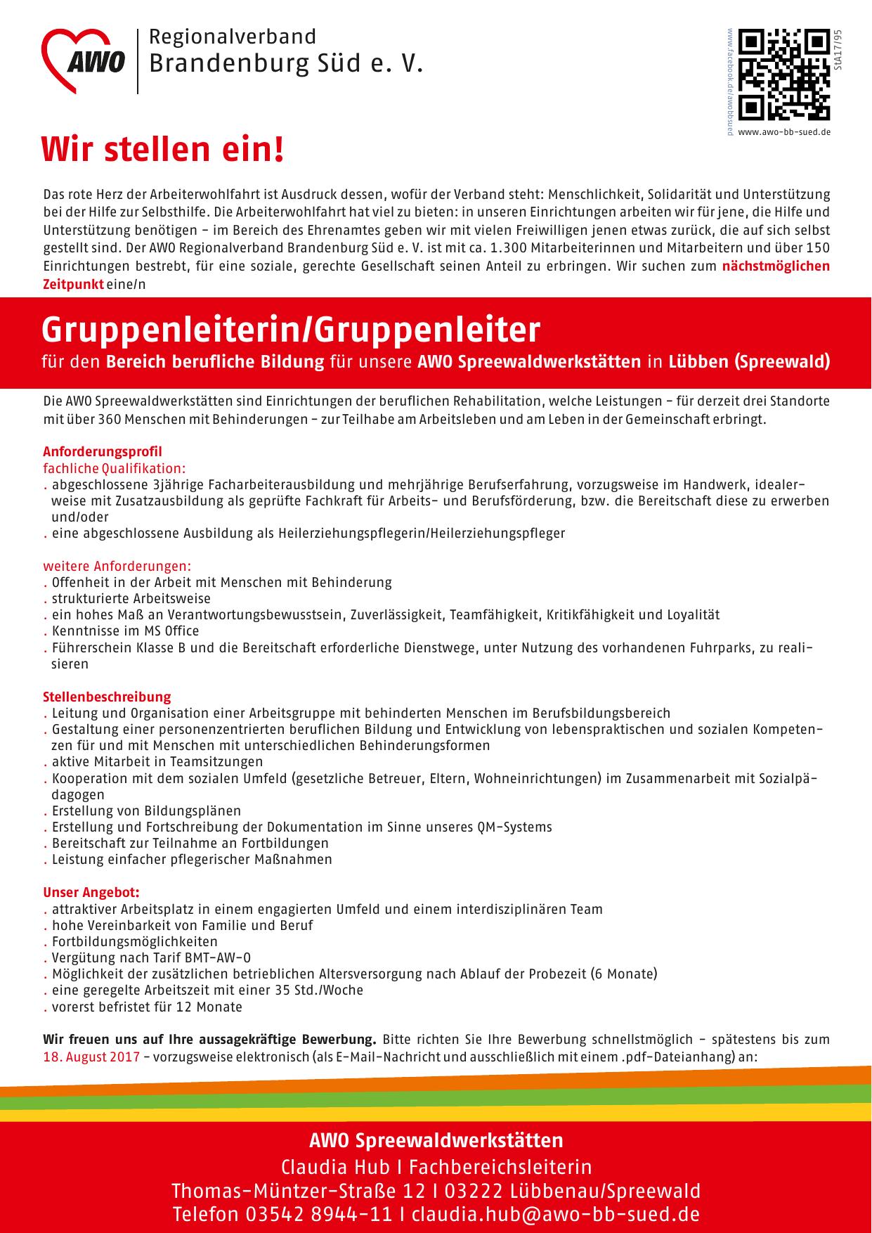AWO Arbeiterwohlfahrt Brandenburg Süd e.V. | News