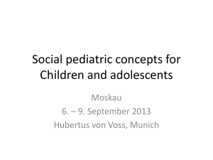 Social pediatric concepts for Children and adolescents