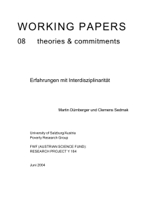 working papers - Universität Salzburg