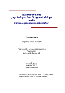 Evaluation eines psychologischen Gruppentrainings in der