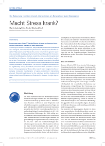 Macht Stress krank? - Swiss Archives of Neurology, Psychiatry and