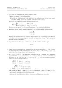 Diskrete Mathematik LVA 703015 3. PS