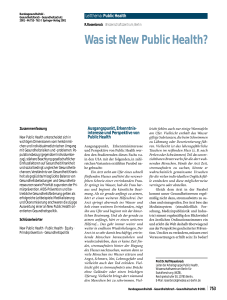 Was ist New Public Health?