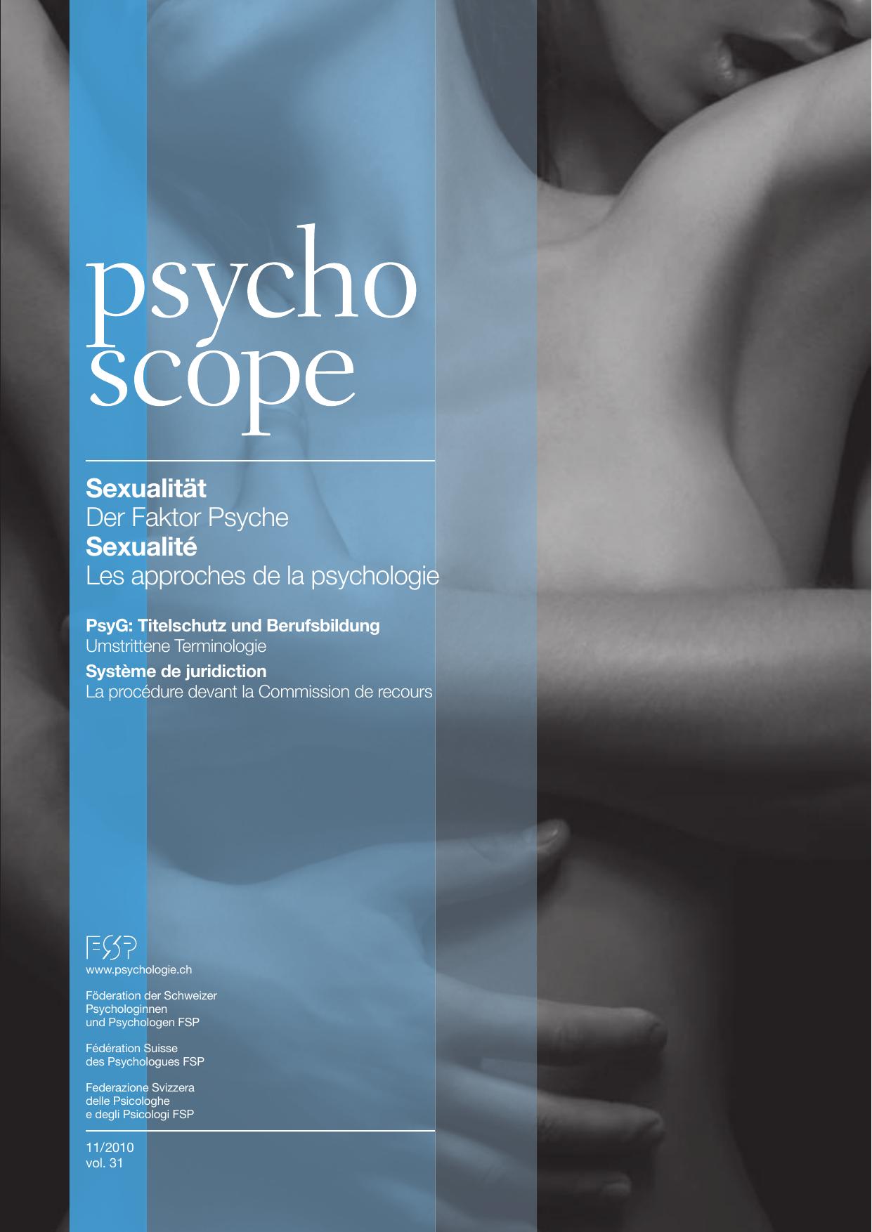 Psychoscope 11 2010 Foderation Der Schweizer Psychologinnen