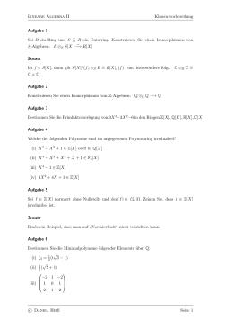 algebra klasse 7