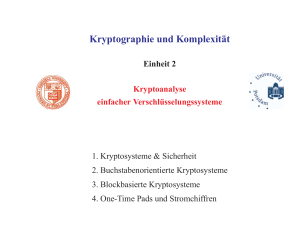 Kryptographie und Komplexit¨at