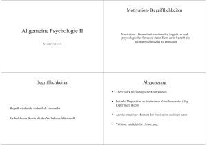 PTW Allgemeine Psychologie II Motivation WS 16