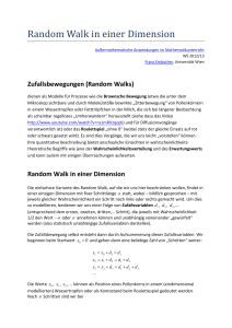 Random Walk in einer Dimension