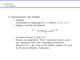 Schnelle Exponentiation