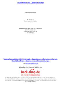 Algorithmen und Datenstrukturen - ReadingSample - Beck-Shop
