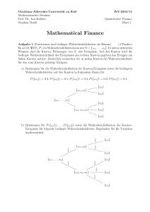 Mathematical Finance - Mathematisches Seminar