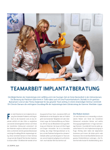 teamarbeit implantatberatung