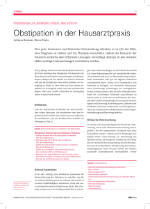 Obstipation in der Hausarztpraxis