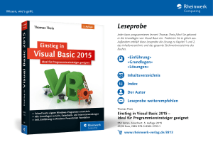 Einstieg in Visual Basic 2015 – Ideal für