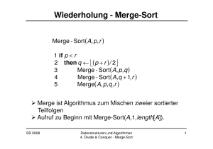 Wiederholung - Merge-Sort