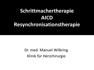 Schrittmachertherapie AICD Resynchronisationstherapie