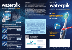 Die beste schallaktive Waterpik® High-Tech-Zahnbürste
