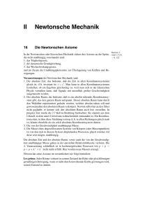 II Newtonsche Mechanik
