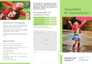 Flyer Spenglersan® Kolloid G