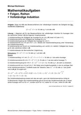 bernoullische ungleichung induktion