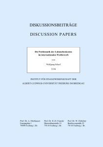 diskussionsbeiträge discussion papers