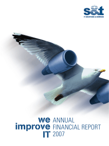 ANNUAL FINANCIAL REPORT 2007