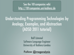 Understanding Programming Technologies by Analogy, Examples