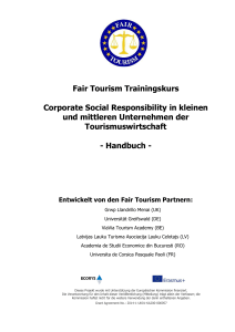Fair Tourism Trainingskurs Corporate Social