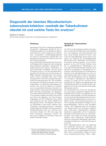 Diagnostik der latenten Mycobacterium-tuberculosis