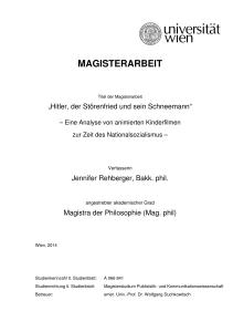 magisterarbeit - E-Theses