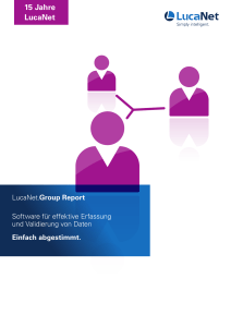 LucaNet – Group Report