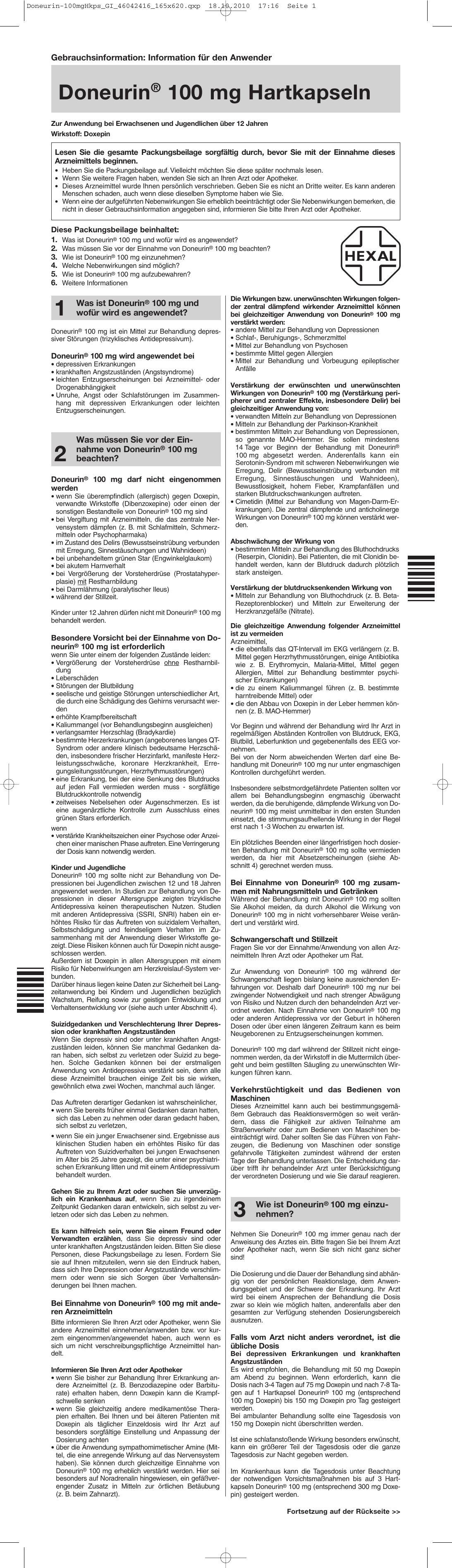 Doneurin® 100 mg Hartkapseln