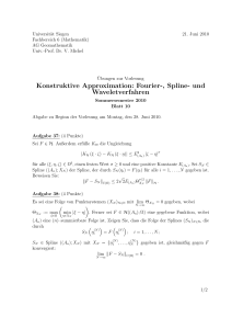 Konstruktive Approximation: Fourier-, Spline- und