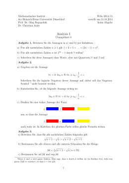 Analysis I - Mathematik - Heinrich-Heine