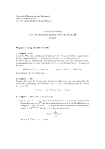 Computerorientierte Mathematik II