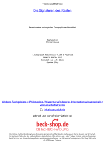 Die Signaturen des Realen - ReadingSample - Beck-Shop
