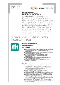 Personalleiter / Head of Human Resources (m/w) - job