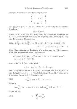 Lösungen Arbeitsblatt Zahlenmengen / Arithmetik