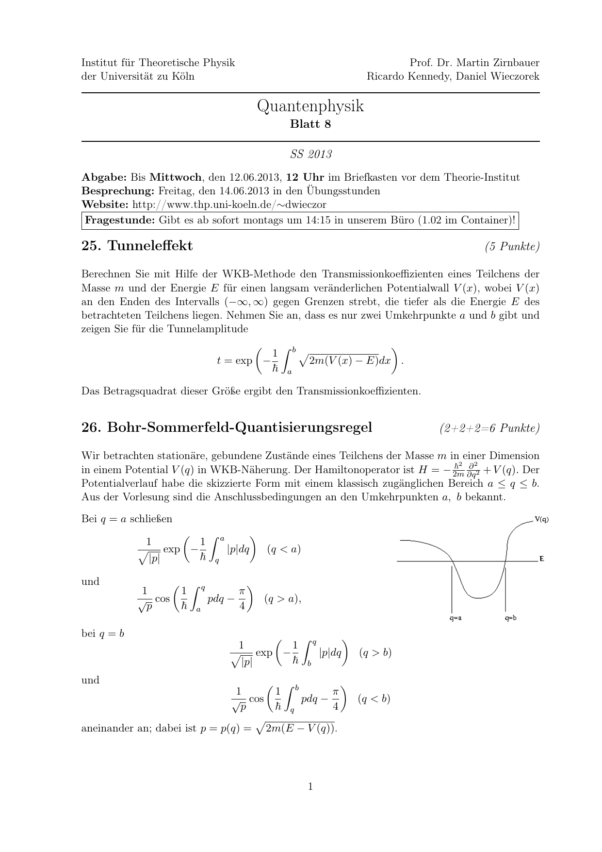 Quantenphysik - Universität zu Köln