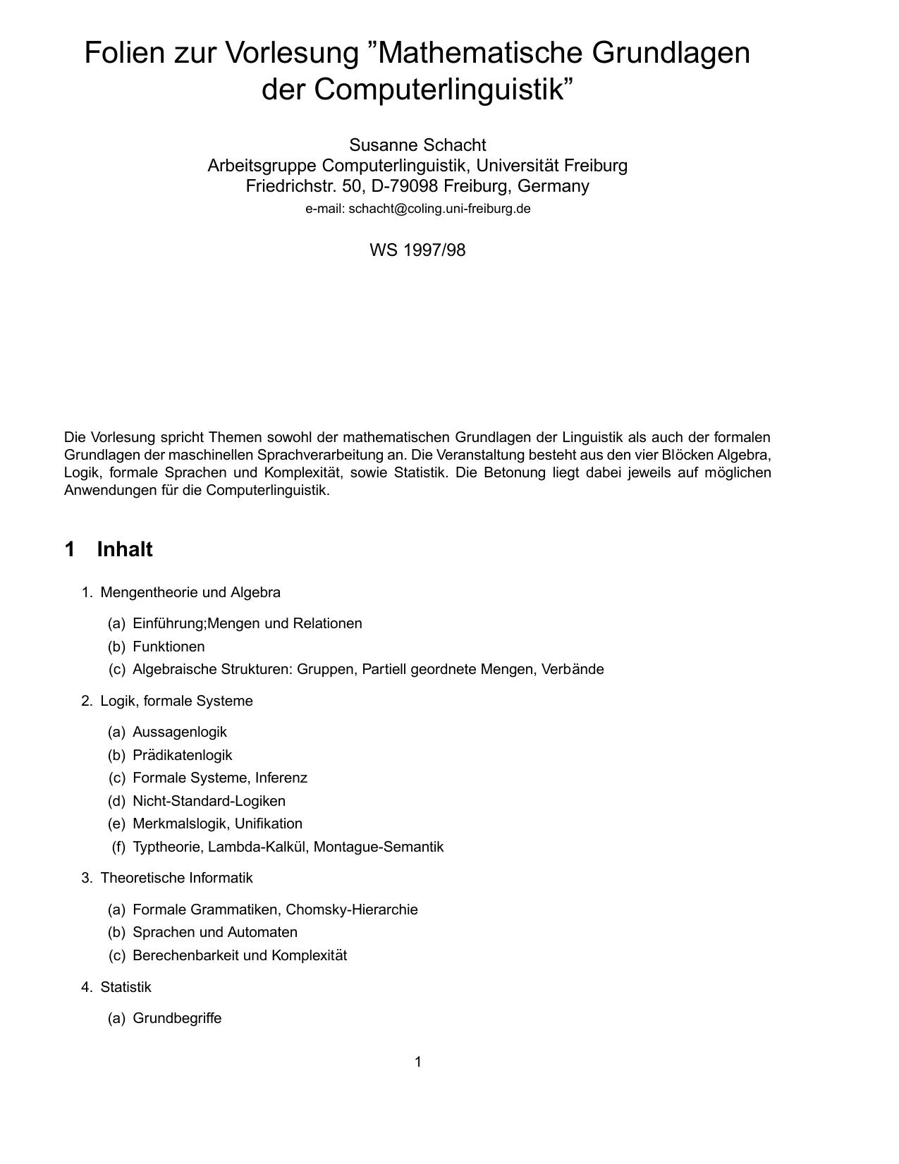 """Folien zur Vorlesung """"Mathematische Grundlagen der"""