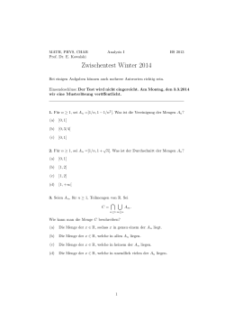 Zwischentest Winter 2014 - D-MATH