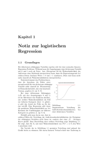 Notiz zur logistischen Regression