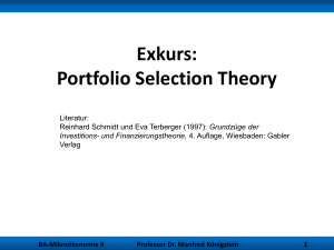Exkurs: Portfolio Selection Theory