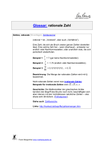 rationale Zahl - Mathebaustelle