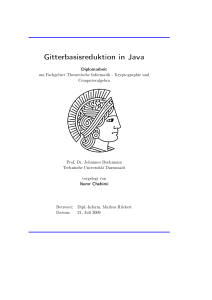 Gitterbasisreduktion in Java - CDC
