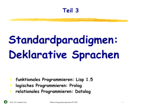 Standardparadigmen: Deklarative Sprachen